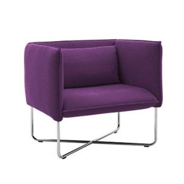 Inside 75 Fauteuil Groove violet Softline