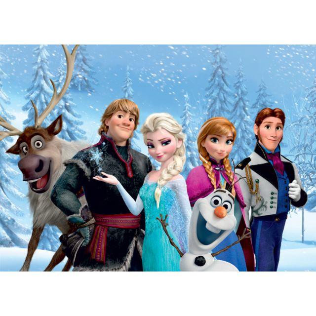 Bebe gavroche poster xxl la reine des neiges portraits d 39 elsa anna olaf sven kristoff hans de - Anna elsa reine des neiges ...