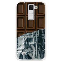 Kabiloo - Coque souple pour Lg K8 avec impression Motifs tablette de chocolat