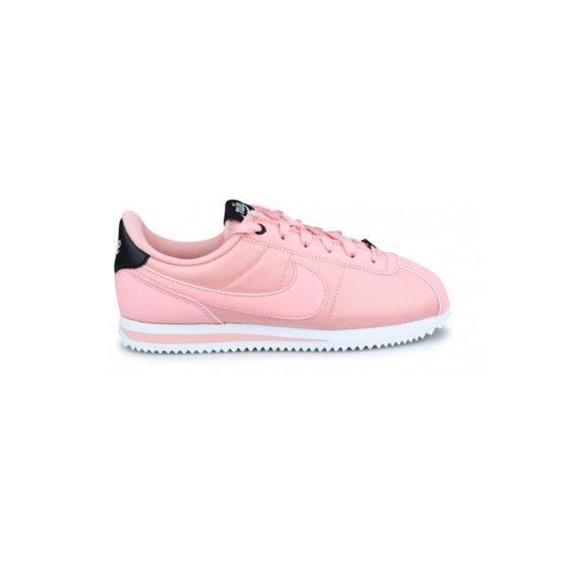 online store aba09 daec6 Nike - Basket Cortez Basic Txt Vday Junior Corail Av3519-600 - pas cher  Achat   Vente Baskets enfant - RueDuCommerce