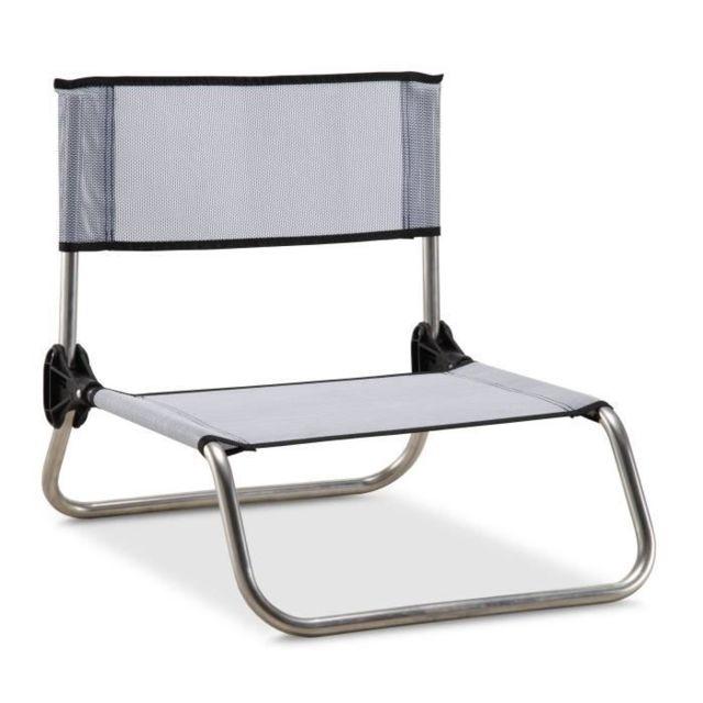 CHAISE DE CAMPING - FAUTEUIL DE CAMPING - TABOURET DE CAMPING chaise camping-plage 833/Tx - Aluminium et PVC Tissé - Gri