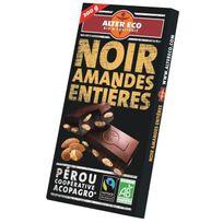 Alter Eco - Chocolat Noir Amandes Entieres Bio 200g