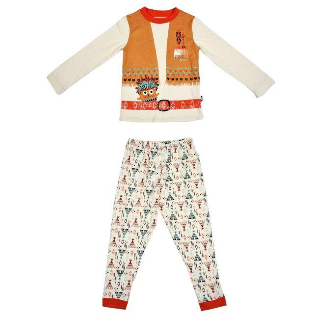 4d203ab328683 Petit Beguin - Pyjama garçon manches longues Petit Indien - Taille - 6/8 ans