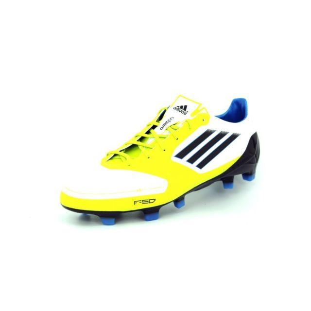 size 40 9753c 476d9 Adidas - f50 adizero trx fg blanc jaune noir homme chaussure football - pas  cher Achat   Vente Baskets homme - RueDuCommerce