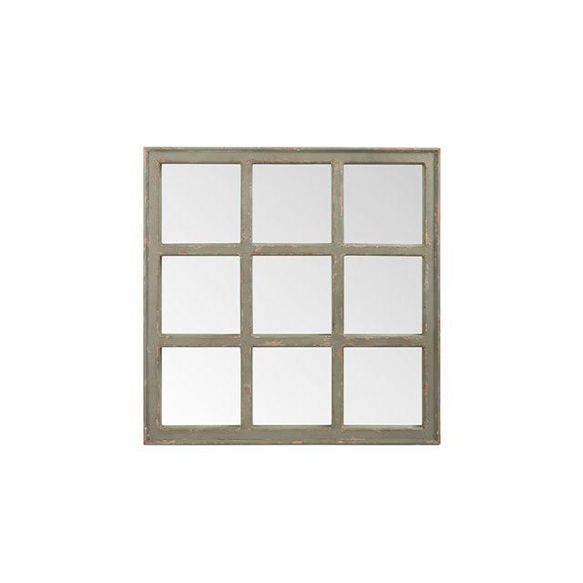 Miroir carré en bois gris