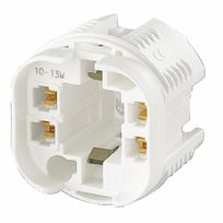 Orbitec - Douille ronde lampe fluorescente à culot G24Q-1 / Gx24Q-1