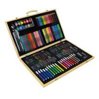 creamania art - Mallette à dessin en bois 180 pièces