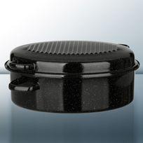 Kochstar - Cocotte ovale en acier émaillé avec 4 poignées décentrées - 38cm