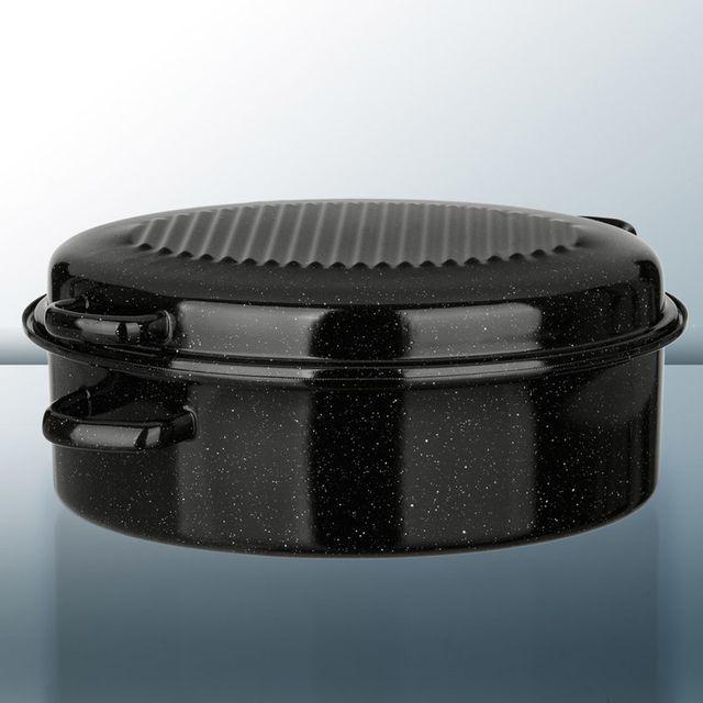 Kochstar Cocotte ovale en acier émaillé avec 4 poignées décentrées - 38cm