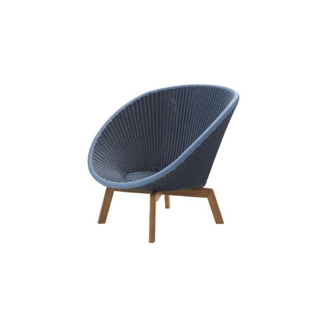 Cane-line Fauteuil Lounge Peacock - bleu
