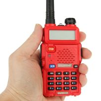 Yonis - Baofeng Uv-5R Talkie-walkie récepteur radio fréquence modulable Rouge