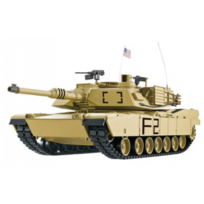 HENG-LONG - Char US M1A2 Abrams 1/16 RTR 2.4Ghz Sons/Fumée/billes