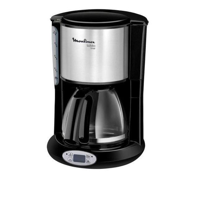 MOULINEX Cafetière programmable SUBITO TIMER FG362810 Cafetière programmable d'une capacité 10/15 tasses, et d'une puissance de 1000W vous permet d'obtenir rapidement votre café. Vous apprécierez son porte fil