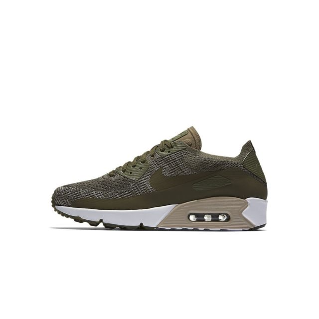 brand new c5cc1 2f54f Nike - Basket Air Max 90 Ultra 2.0 Flyknit - Ref. 875943-200 Vert - pas  cher Achat   Vente Baskets homme - RueDuCommerce