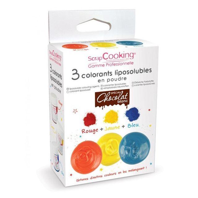 Scrapcooking 3 colorants liposolubles en poudre