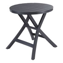 ALLIBERT - BALCON - Table pliante Oregon anthracite