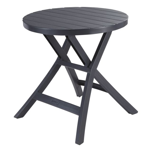 ALLIBERT - Table pliante Oregon - Anthracite - pas cher ...