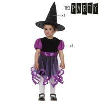 fdc1c2828db08 Totalcadeau - Costume de petite sorcière pour bébé - déguisement panoplie  Taille - 0-6 Mois