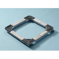 Mottez - Support cadre sur roulettes extensible - 100 Kg maxi - Extensible mini 46 x 46 cm - maxi 64 x 64 cm - Hauteur totale 42 mm avec freins B747V