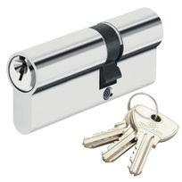 Bricard - Cylindre de sécurité pour porte barillet 30 x 60 mm Alpha 3 clés