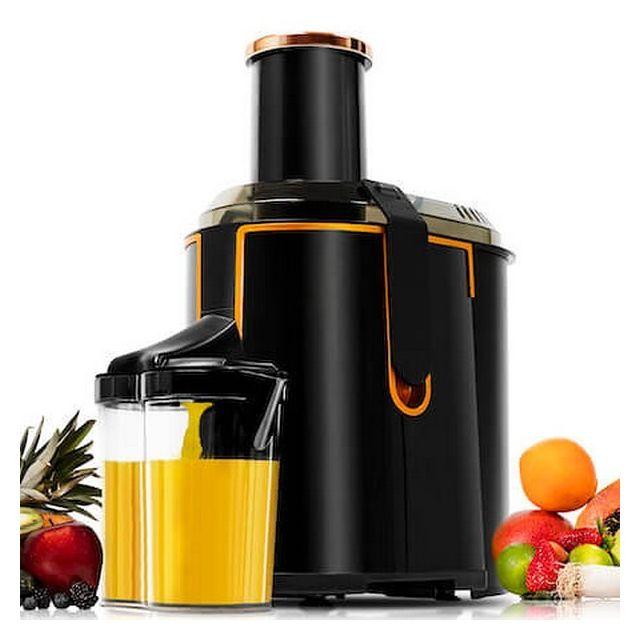 Totalcadeau Centrifugeuse à vitesse réglable Xxl 1300W 950 ml Noir - Extracteur de Jus de Fruits et Légumes