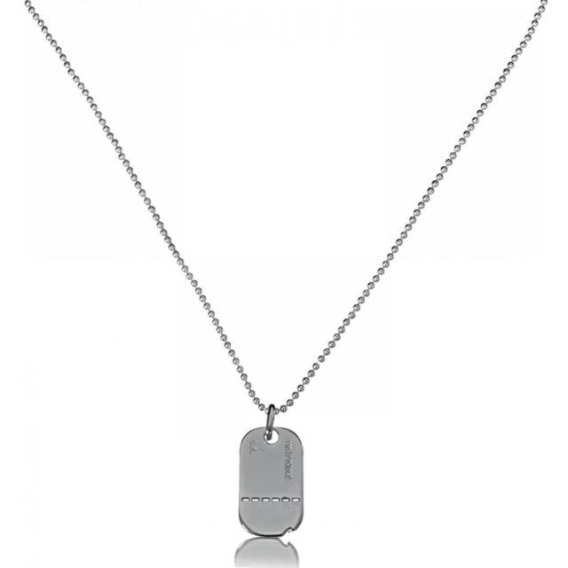606ec0ab390 Bijoux En Vogue - Plaque Militaire Argent - pas cher Achat   Vente Chaînes  - RueDuCommerce