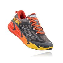 Hoka One One - Odyssey 2 Grise Rouge Et Jaune Chaussures de running