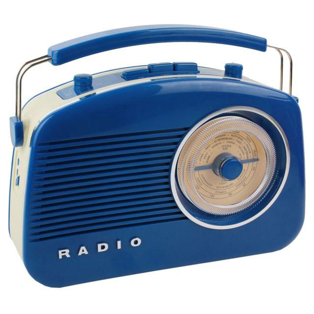 La Chaise Longue Radio 60's bluetooth Bleue