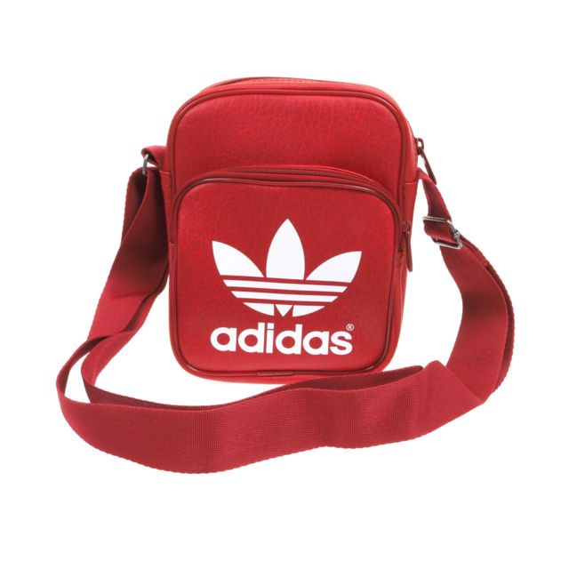 9c75e13fd4 Adidas originals - Sacoche pochette bandouliére adidas Originals Classic  bdx mini bag Rouge 64124