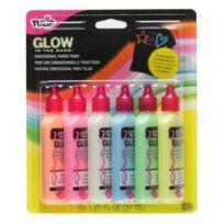 Tulip - Glow Pack De 6 Flacons De Couleurs Phosphorescentes Pour Peinture 3D 37 Ml