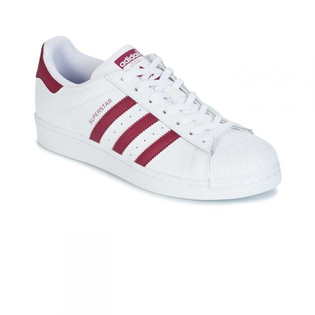 Adidas originals - Chaussures Superstar Blanc/Bordeaux W ...