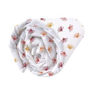 Matt&ROSE - Drap housse coton feuille tropicale géométrique cuivre/brique fond blanc Jungle Graphique - 140x200cmNC Orange