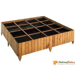 jardipolys carr de potager en bois teint potimarron 120 pas cher achat vente carr. Black Bedroom Furniture Sets. Home Design Ideas