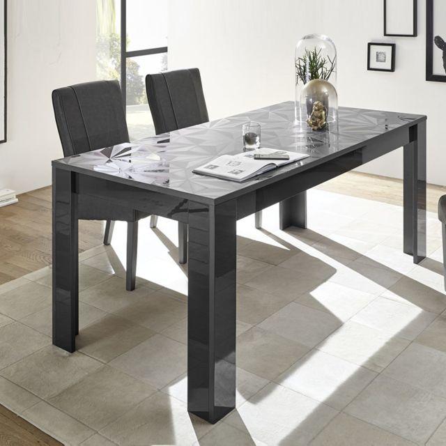Sofamobili Table design 180 gris laqué Antonio 3