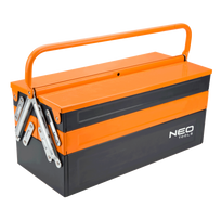 Neo Tools - Caisse à outils métal - Taille - 455mmx200mmx210mm