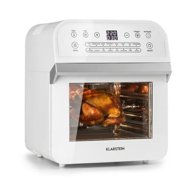 KLARSTEIN AeroVital Cube friteuse à air chaud 1600 W 12 l minuterie 16 programmes blanche