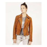 Redskins - Blouson Bridget african - Blouson en cuir de chèvre, zippé style motard - Femme - 2413