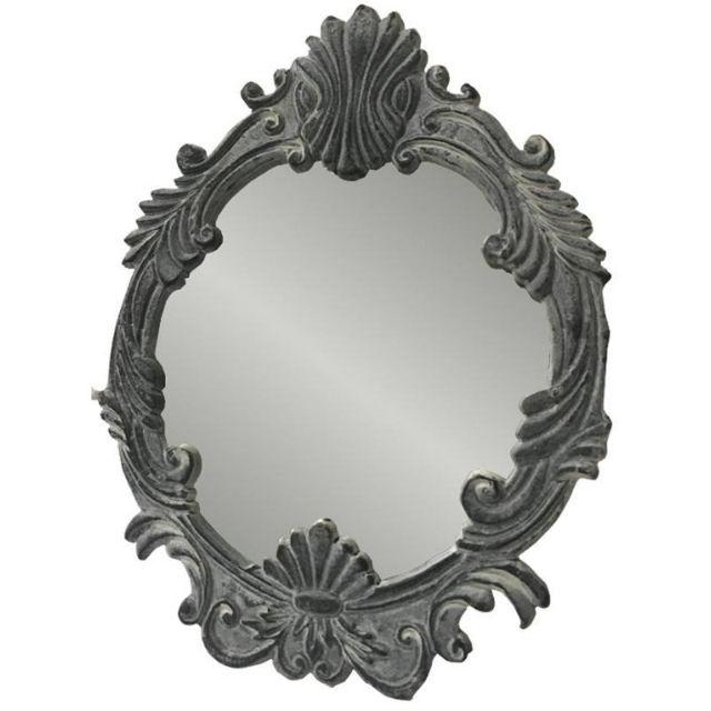 Chemin De Campagne Style Ancien Miroir Psyché de Table Coiffeur 26x20 cm