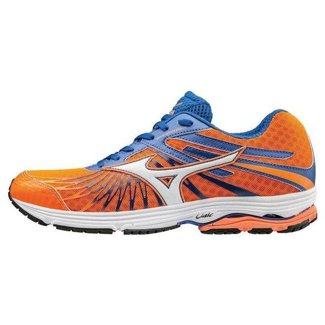 0817f344044 Mizuno - Chaussures Wave Sayonara 4 Orange-Bleu 2017 - pas cher Achat   Vente  Chaussures running - RueDuCommerce