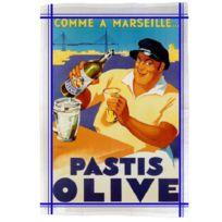 Editions Club Pom - Torchon de cuisine rectangulaire en coton Marseille