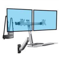 Kimex - Station de travail informatique murale pour 2 écrans Pc 13''-27