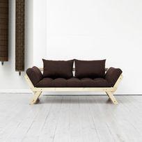 Karup - Canapé convertible en bois naturel avec matelas futon Bebop - Marron