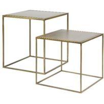 Set de 2 tables gigognes - Laiton vieilli