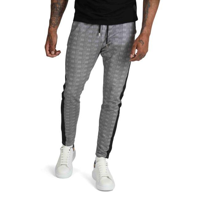 d6c693ce3e6 Project X - Pantalon de jogging à imprimé Prince de Galle et bandes Homme  Paris Multicolore - pas cher Achat   Vente Survêtement homme - RueDuCommerce