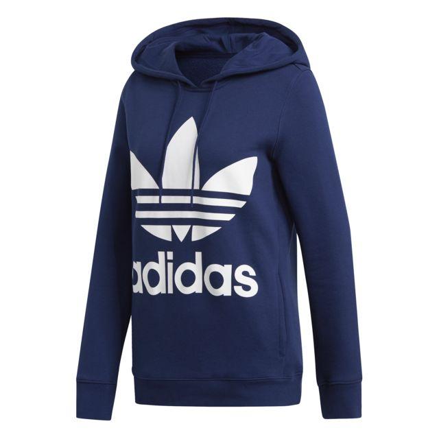 Adidas Hoodie femme Trefoil pas cher Achat Vente Tee