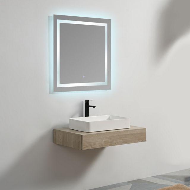 Plan sous vasque - Mdf 19 mm - Plaqué en Bois - 90x50 cm - Tendance