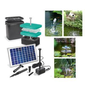 Solairepratique kit pompe solaire bassin napoli 650 avec for Pompe filtre piscine solaire