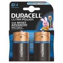 Duracell - Pile alcaline Ultra Power D/LR20 - Blister de 2 piles