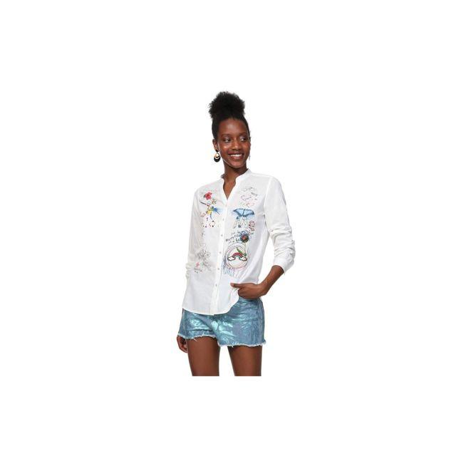 Desigual Chemise Femme Colorme Blanc 19SWCW30 - Taille - Xxl