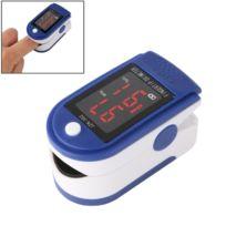 Wewoo - Tensiomètre Oxymètre d'impulsion de saturation de l'oxygène du sang du bout du doigt de moniteur avec l'affichage à Led, l'affichage, le Ce et les certificats de Rohs